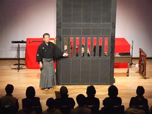歌舞伎の黒御簾音楽を紹介した公演の様子