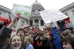 ウィスコンシン州の公務員デモ